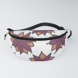 Holiday Two-Toned Flowers Fanny Pack