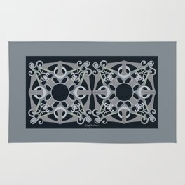 Support Love Mandala x 2 - Neutral/Black Rug