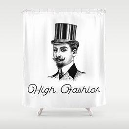 High Fashion - Retro man with big hat Shower Curtain