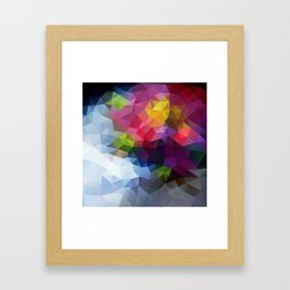 Low Poly Art Colourful Framed Art Print