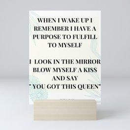 I Look In The Mirror And Blow Myself A Kiss Mini Art Print