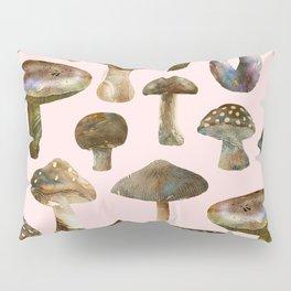 Mushrooms Pink Pillow Sham
