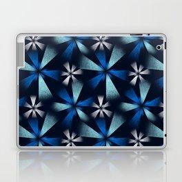 Fragmented Blue Burst Laptop & iPad Skin