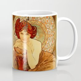 "Alphonse Mucha ""The Precious Stones Series: Emerald"" Coffee Mug"
