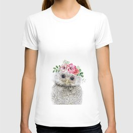 Baby Owl with Flower Crown T-shirt
