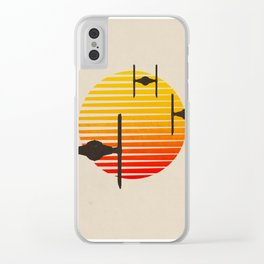 tie fighter, wars star Clear iPhone Case