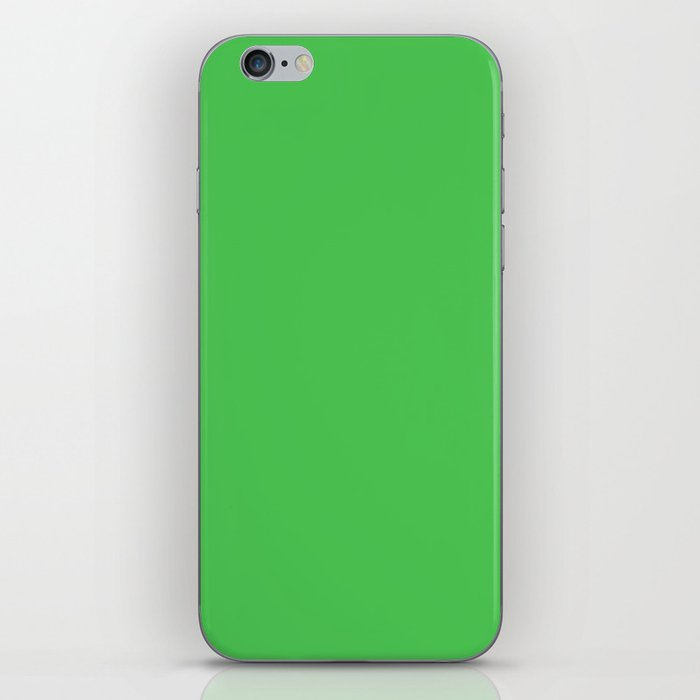 Solid Bright Kelly Green Color iPhone Skin