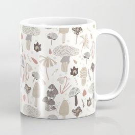 Mushroom Whimsy in Cream Coffee Mug