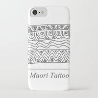 maori iPhone & iPod Cases featuring Maori Tattoo by Harvey Depp