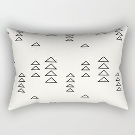 Minimalist Triangle Line Drawing Rectangular Pillow