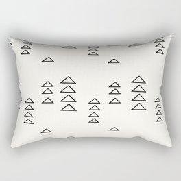 Minimalist Triangle Line Drawing Rectangular Pillow