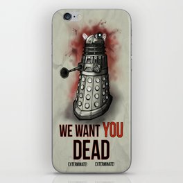 We Want You (No Border) iPhone Skin