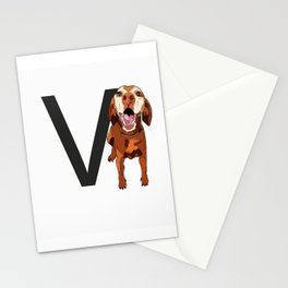 V is for Vizsla Stationery Cards