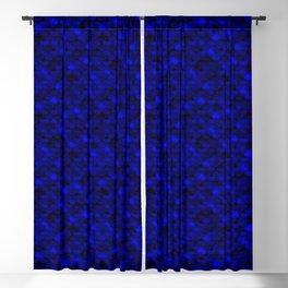 Dark Blue Scales Blackout Curtain