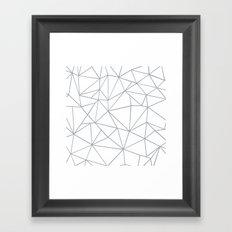 Ab Outline 2 Grey on White Framed Art Print