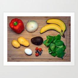 Fruits & Veggies Art Print
