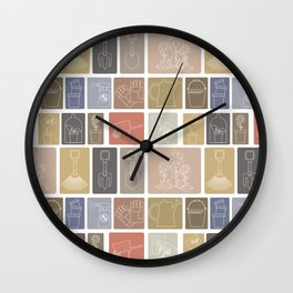tools for the gardener Wall Clock