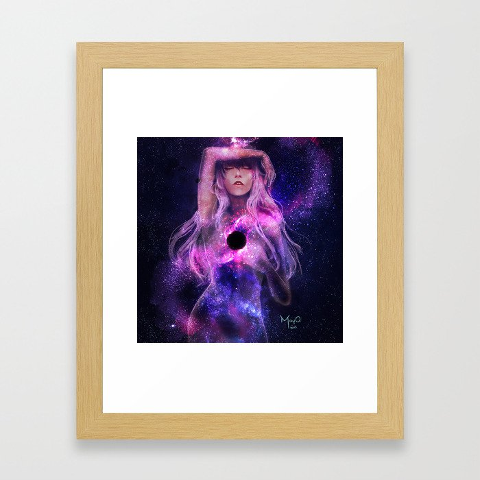 Supermassive Black Hole Framed Art Print