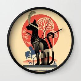 Cat Deco Wall Clock