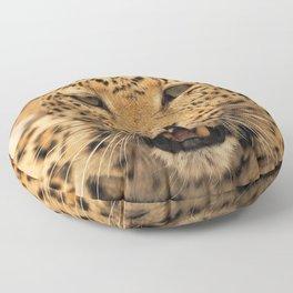 Wild leopard Floor Pillow