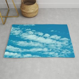 Beautiful blue sky and fluffy clouds Rug