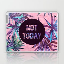 Not today - pink version Laptop & iPad Skin