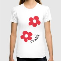 wallet T-shirts featuring Inspired PRADA wallet *White and Red Flower* by art_146