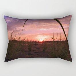 A look through the grass Rectangular Pillow