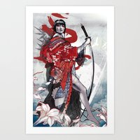 geisha Art Prints featuring Geisha by Kent Floris