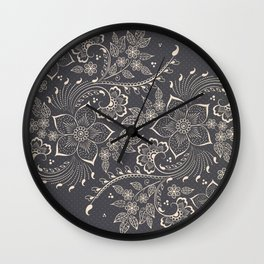Vintage floral elements Wall Clock