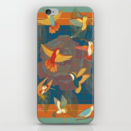 Hummingbirds in Orange iPhone Skin