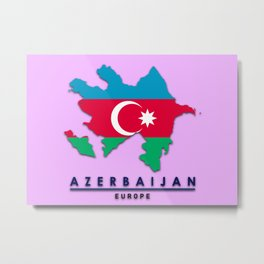 Azerbaijan - Europe Metal Print