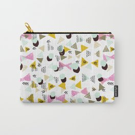 Ralea - abstract design triangle geometric circle print texture dots mid century modern graphic  Carry-All Pouch