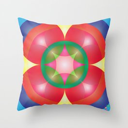 Atoms 12 Throw Pillow