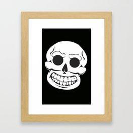 Mr. Bones says Hi Framed Art Print