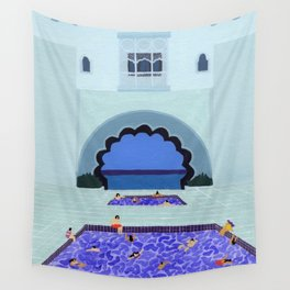 Scallop pool Wall Tapestry