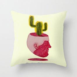 cactus man Throw Pillow