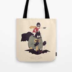 to the batmobile! Tote Bag