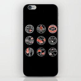 blurry icons II iPhone Skin