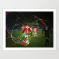 ronaldo Art Prints featuring Ronaldo Remix by Shyam13