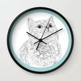 Kitty Cat in a Circle Wall Clock