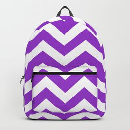 Dark orchid - violet color - Zigzag Chevron Pattern Backpack