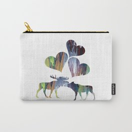 Moose couple Carry-All Pouch