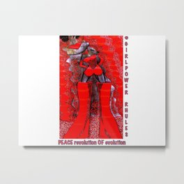 pOOs: from original tetkaART Metal Print