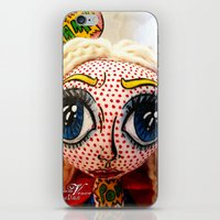 supergirl iPhone & iPod Skins featuring Supergirl by Chiara Venice Art Dolls