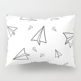 Paper Airplane Pattern | Line Drawing Pillow Sham