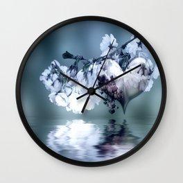 Frühlingsherz blue Wall Clock