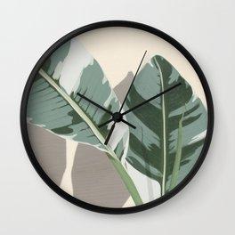 Banana Leaves Wall Clock