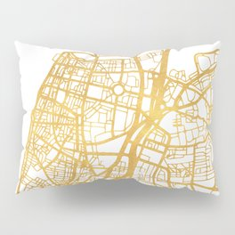 TEL AVIV ISRAEL CITY STREET MAP ART Pillow Sham