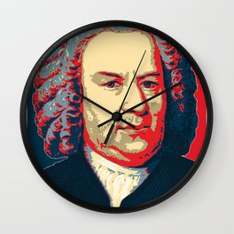 Johann Sebastian Bach Pop Art Wall Clock